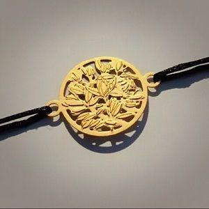 Auth✨Chanel Gold Tone Flower Bracelet for VIP